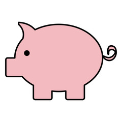 piggy savings isolated icon
