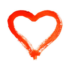 Heart - symbol of love - watercolor painting