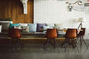 Modern interior of a restaurant