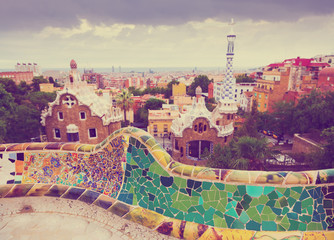 Foto op Canvas Barcelona view of Barcelona from Park Guell