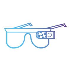 line 3d glasses object technology