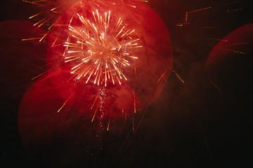 fireworks in sky during celebration