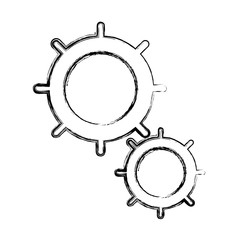 Gears machinery pieces icon vector illustration graphic design