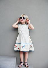 Portrait of adorable little girl.