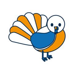 cartoon turkey icon