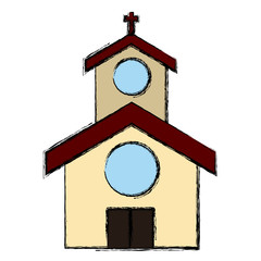 Church building symbol icon vector illustration graphic design