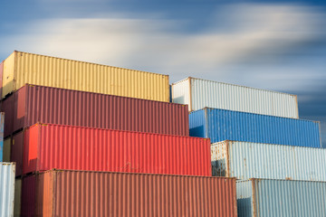 Container handling and storage in shipyard, Business transportation logistics and management