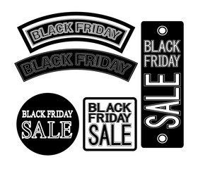Vector posters for advertisement Black Friday