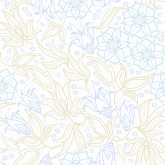 Vector seamless background. Design for fabrics, textiles, paper, wallpaper, Internet. Vintage. Floral ornament.