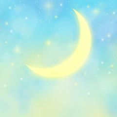新月と夜明け前の満天の星空