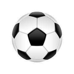 Classic football ball isolated on white background. Vector illustration