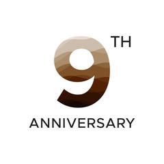 9th anniversary unique number