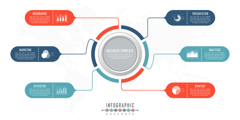Vector timeline infographics for chart, diagram, web design, presentation, workflow layout