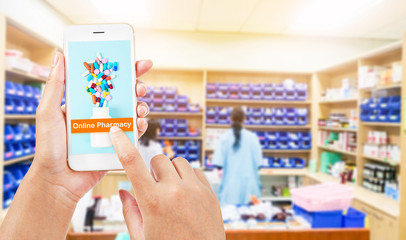 Photo sur Toile Pharmacie Online pharmacy concept.