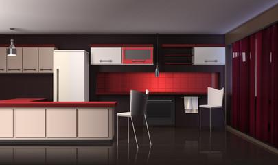 Luxury Modern Kitchen Interior