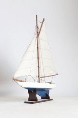 Sailing boat toy model