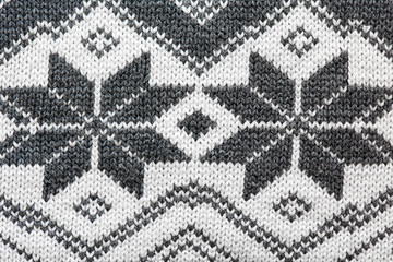 Winter themed wool pattern macro