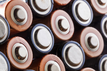 Closeup of AA batteries