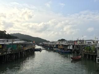 Tai O village with river