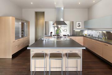 Modern design kitchen in luxury home