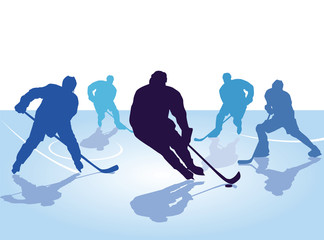 Hockeyspieler, Skaten mit Hockey