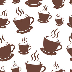Coffee cup seamless pattern. Abstract Coffee Pattern