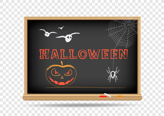 blackboard Halloween Holidays