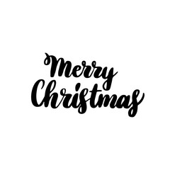 Merry Christmas Handwritten Lettering