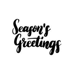 Season Greetings Lettering