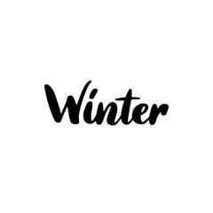 Winter Handwritten Lettering