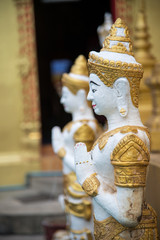 "the beautiful statue show the culture of thai in action ""Wai"" or Thai greeting"