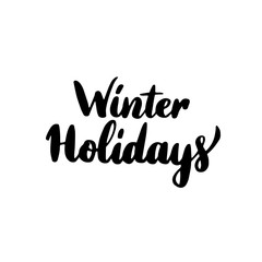 Winter Holidays Lettering