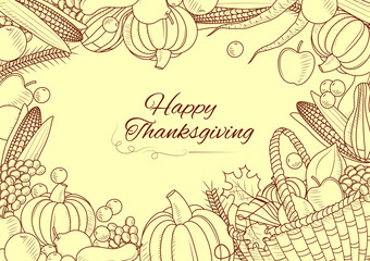 Happy Thanksgiving holiday celebration festival background
