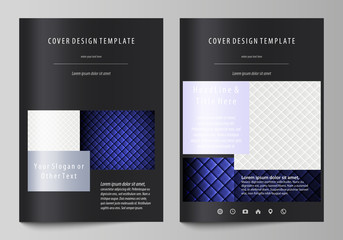 Business templates for brochure, flyer, report. Cover design template, abstract vector layout in A4 size. Shiny fabric, rippled texture, white and blue color silk, colorful vintage style background.