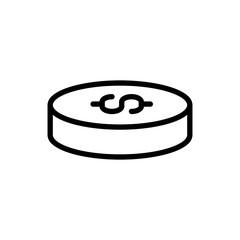 Modern coin line icon.