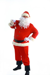 santa claus standing in front of white background