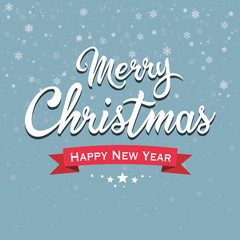 Merry Christmas and Happy New Year - Lettering
