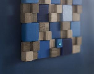 Obraz 3s z kwadratami w kwadracie