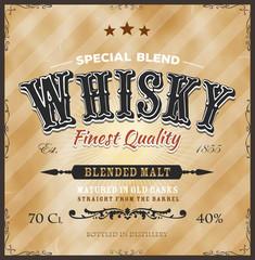 Whisky Label For Bottle