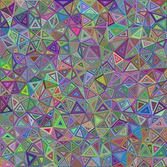 Colorful chaotic vector triangle mosaic tile background design