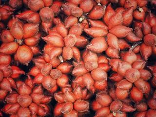 Zalacca the sweet variety fruit background