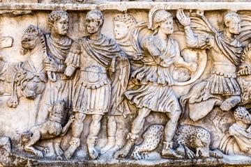The Roman bas-relief