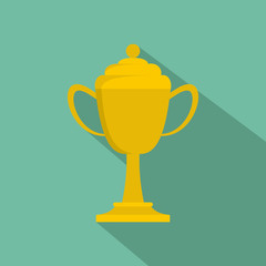 Cup award icon vector flat