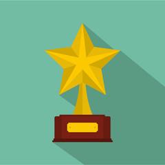 Star award icon vector flat