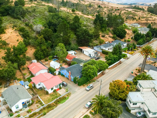 Aerial view of Cambria, California