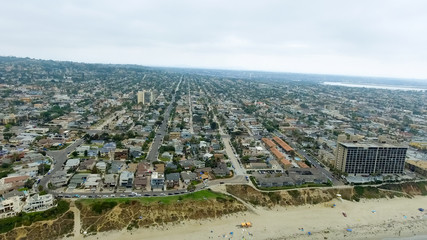 Aerial view of La Jolla Beach, California