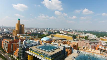 Aerial view of Berlin skyline from Potsdamer Platz, Germany