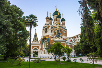The St Nicholas Russian Orthodox Cathedral, an Eastern Orthodox cathedral located in the city of Nice.It is the largest Eastern Orthodox cathedral in Western Europe and a National Monument in France