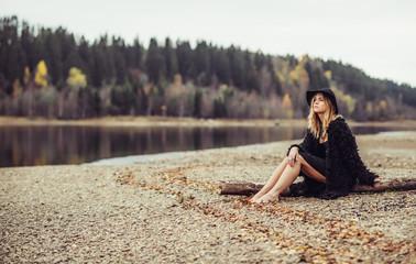 bohemian autumn girl