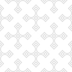 Geometric pattern for wallpapers. Light gray seamless background